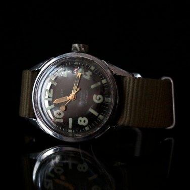 ELIDO, montre de plongée, vers 1965. Crédit : Fred Chrono.