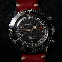 NIVADA GRENCHEN Chronomaster Aviator Sea Diver, cal. Valjoux 92, circa 1963.