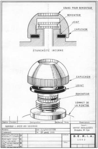 Couronne Parmentier : schéma de conception.