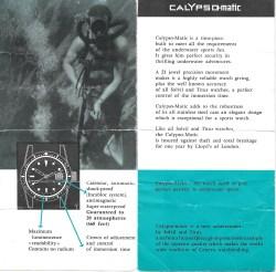 TITUS Calypsomatic réf. 5913 Série 1 Brochure - Img Watcheswithpatina 03
