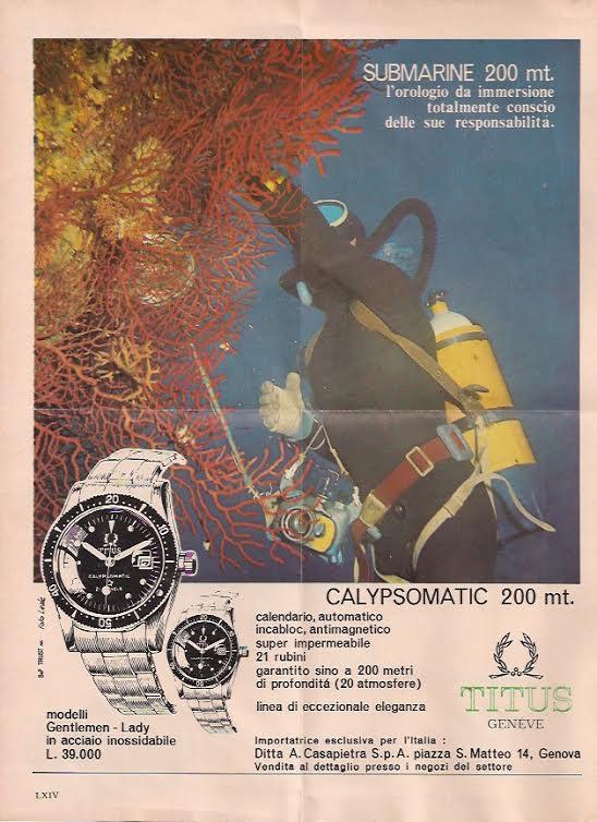 TITUS Calypsomatic réf. 5913 Série 1 - Img publicité Watcheswithpatina 01