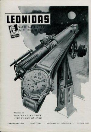 LEONIDAS Publicité d'époque, circa 1955. Crédit : ND.