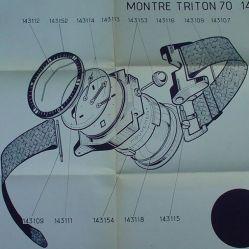 TRITON Spirotechnique. Schémas de conception, février 1962. Crédit : Erick Dondellinger.