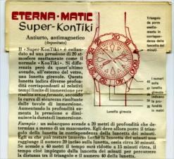 ETERNA Super KonTiki, mode d'emploi de la lunette de décompression. Crédit : ND.