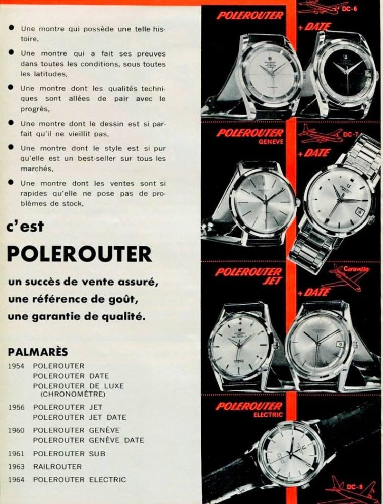 UNIVERSAL GENEVE Polerouter publicité