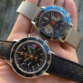 ORGANA et PONTIAC, chronographes Yachting. Crédit : Justin Vrakas.