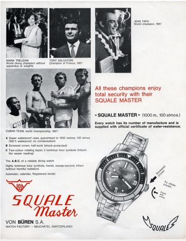SQUALE : publicité de l'époque.