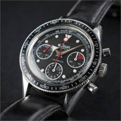 (Lot 182) LE JOUR, chronographe étanche, cal. Valjoux 7736.