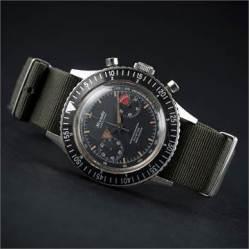 (Lot 35) NIVADA GRENCHEN Chronograph Aviator Sea Diver, cal. Venus 210.
