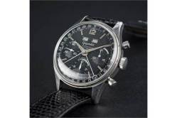 (Lot 38) GIGANDET, chronographe triple date, cal. Valjoux 72C.