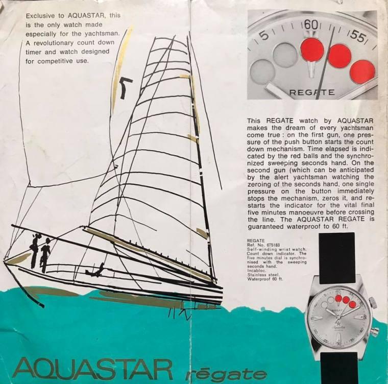 AQUASTAR Régate : publicité originale.