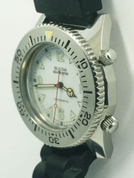 BULOVA Sea Hunter, réf. 11933, cadran blanc.
