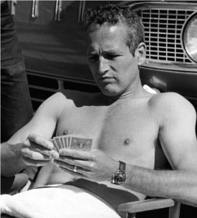 WALTHAM Bathyscaphe - Paul Newman entre deux prises du film Harper, 1966.