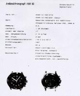 HEUER Bund 1550 SG - Spécifications