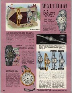 WALTHAM : brochure de promotion, 1959.