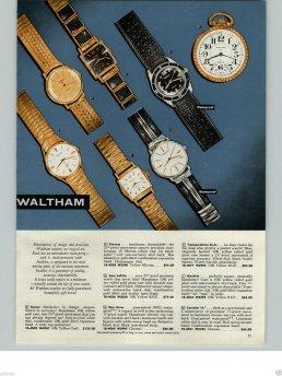 WALTHAM : brochure de promotion, 1960.