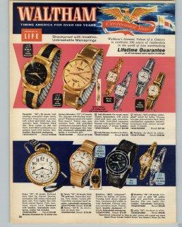 WALTHAM : brochure de promotion, 1961.
