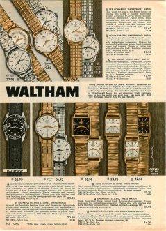 WALTHAM : brochure de promotion, 1962.