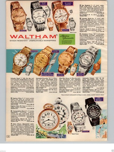 WALTHAM : brochure de promotion, 1966.