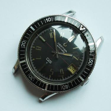 CERTINA DS réf. 5801 113 : cadran type 1.
