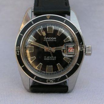 DACOR, montre de plongée, circa 1970.