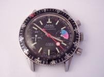 AERO NEUCHÂTEL, chronographe Valjoux 7733, circa 1973.