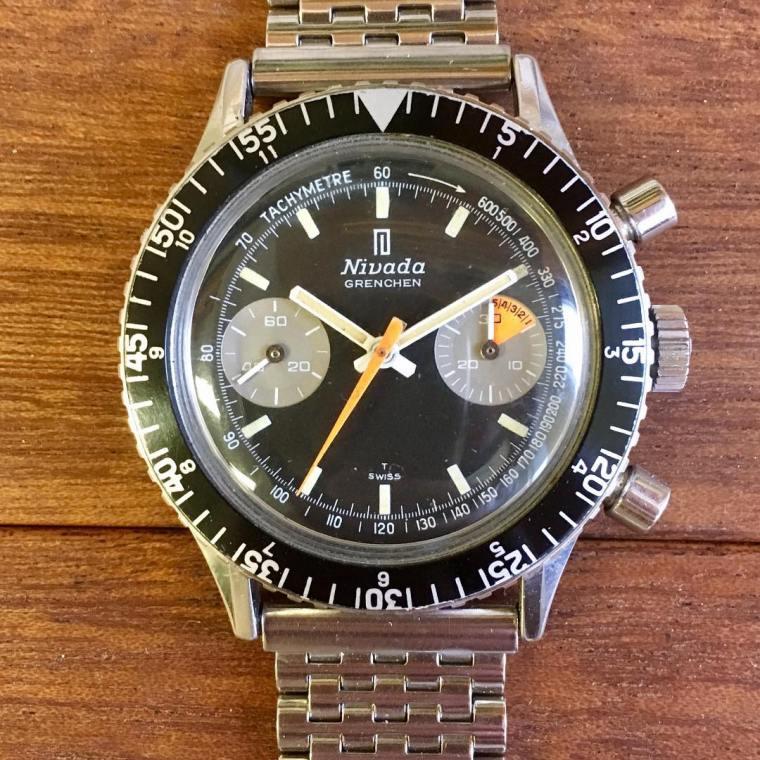 NIVADA Chronomaster, cal. Valjoux 23, circa 1970.