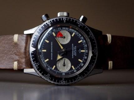 NIVADA GRENCHEN Chronomaster Aviator Sea Diver, cal. Valjoux 23, circa 1965.