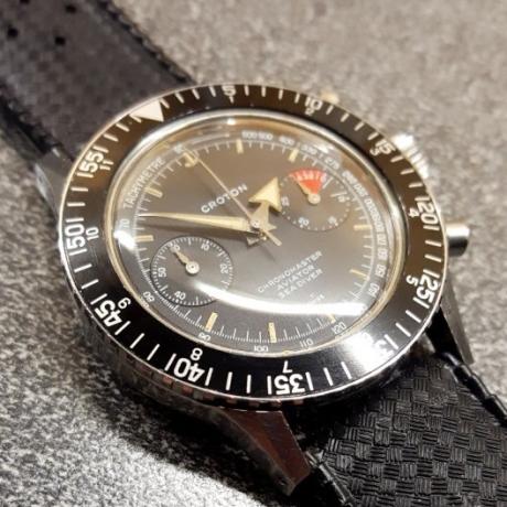 CROTON Chronomaster Aviator Sea Diver, cal. Valjoux 92, circa 1965.