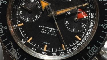 NIVADA GRENCHEN Chronomaster Aviator Sea Diver, cal. Valjoux 92, circa 1964.