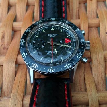 CROTON Chronomaster Aviator Sea Diver, cal. Valjoux 7733, circa 1970.