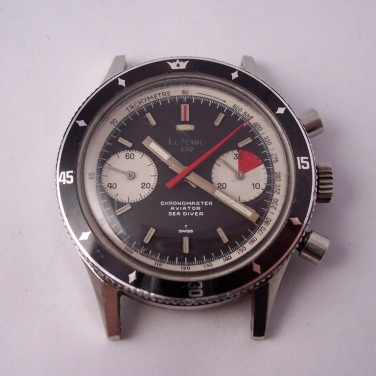 LE MARC Chonomaster Aviator Sea Diver, chronographe Valjoux 7733.