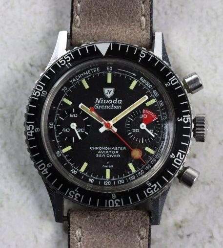 NIVADA GRENCHEN Chronomaster Valjoux 23 - Img eBay 01