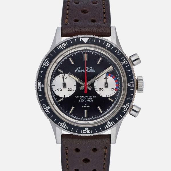 PIERRE VALLEE Chronomaster, cal. Valjoux 7733, circa 1970.