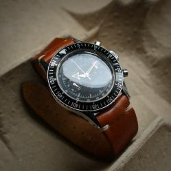 CROTON NIVADA GRENCHEN Chronograph Aviator Sea Diver, cal. Venus 210, circa 1961-1963.