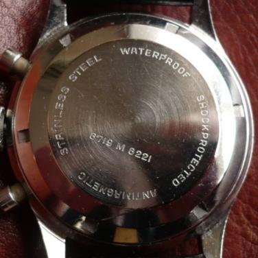 NIVADA GRENCHEN Chronograph Aviator Sea Diver, cal. Venus 210, 1960-1963.