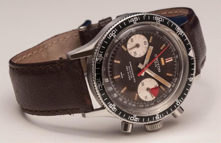 CROTON Chronomaster Aviator Sea Diver, cal. Valjoux 7733, circa 1969.