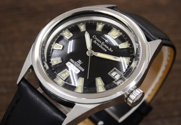 CITIZEN Super Jet Auto Dater Parawater, cadran noir type 2, 1968.