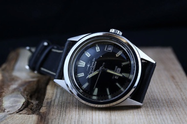 CITIZEN Super Jet Auto Dater Parawater, cadran noir type 1, 1966.
