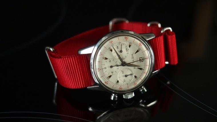 MEYLAN, chronographe cal. Lemania 2520, 1961.