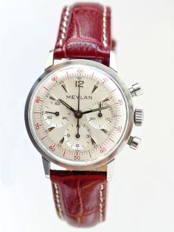 MEYLAN chronographe décimal, cal. Lemania 2520 circa 1963.
