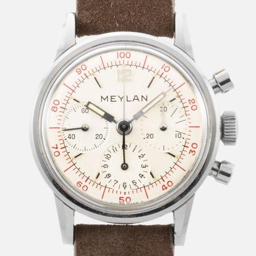 MEYLAN chrono décimal cal. Lemania 2520 circa 1966 - Img SSong 01