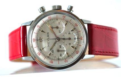 MEYLAN chrono décimal, réf. 813-65, cal. Lemania 2520.