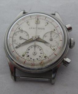MEYLAN chronographe décimal réf. 1198 cal. Valjoux 72, circa 1950.