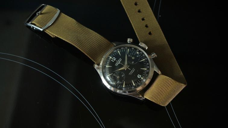 VULCAIN, chronographe cal. Landeron 149, circa 1960.