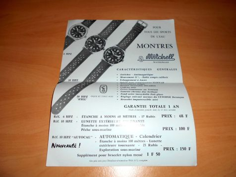 MITCHELL, brochure promotionnelle, circa 1965.